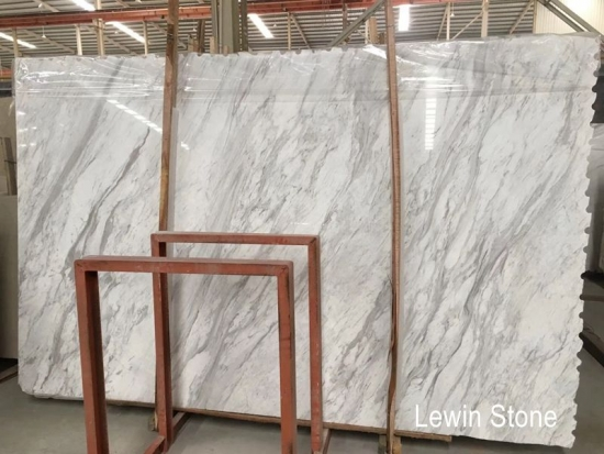 Volakas white Polished Marble Slab
