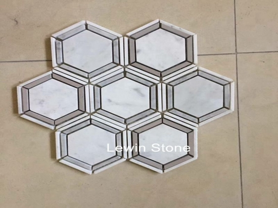 China Hex  Mosaic Marble