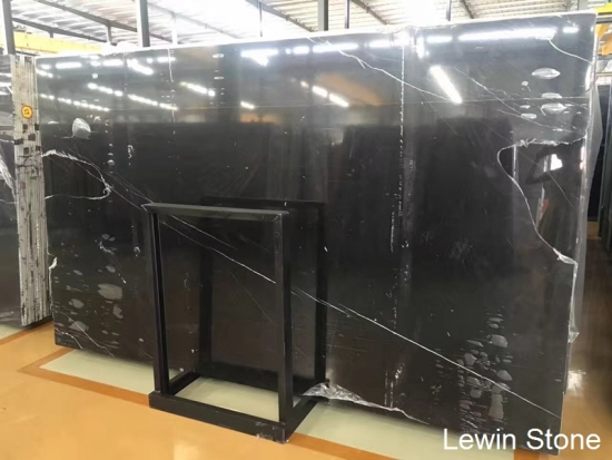 China Hot Sale Natural Polished Black Marquina Marble