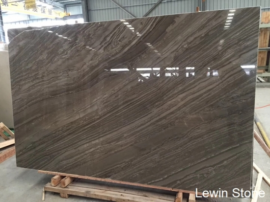 China Wooden Foin Polished marble slab