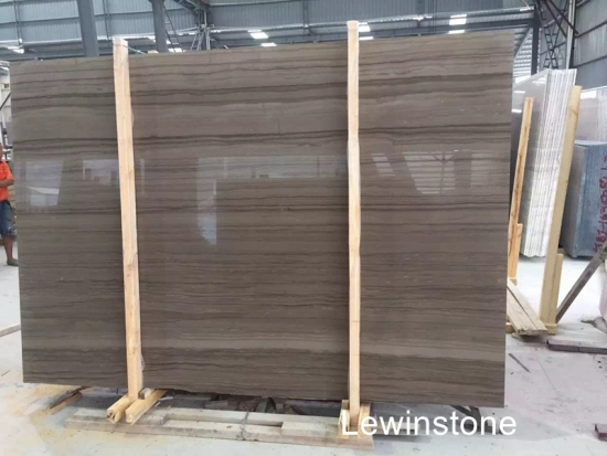 China Natuarl Polished Athen Wooden Marble
